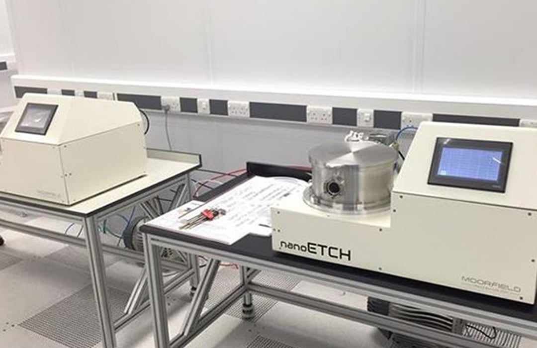 Graphene soft-etching with the nanoETCH