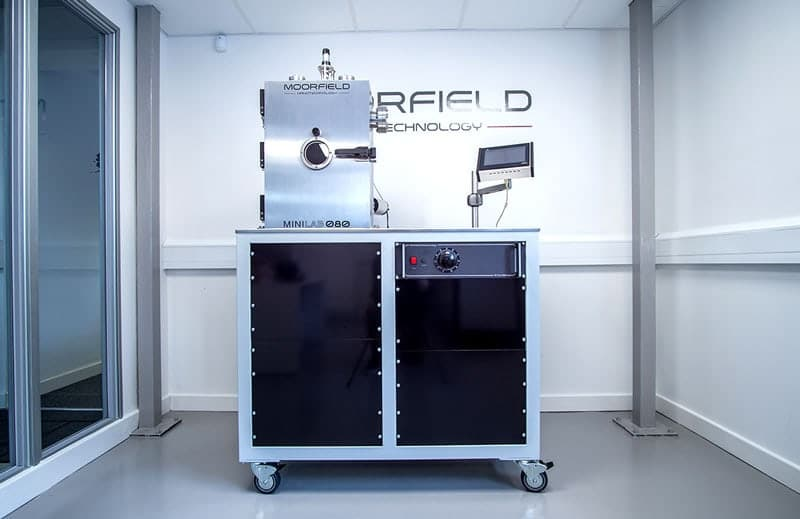 MiniLab 080 system equipped for thermal and LTE evaporation for metals and organics