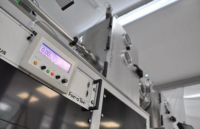 E-beam evaporation controller fitted to Minilab 080 system
